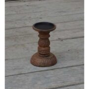 kh10-M-9104 indian furniture wood candlestick holder