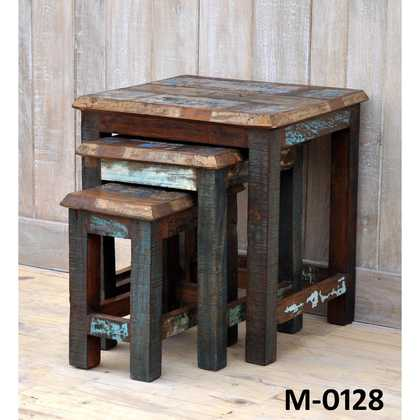 kh10-m-0128 indian furniture nest of tables