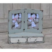 kh10-m-5860 indian shabby photo frame drawers double