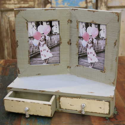 kh10-m-5860 indian shabby photo frame open