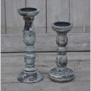kh10-m-8200 indian wood candlesticks double