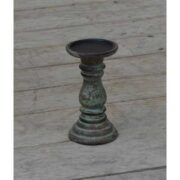 kh10-m-9098 indian furniture wood candlestick blue