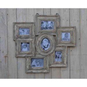 kh10-m-9246 indian wood photo frame multi