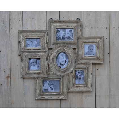 kh10-m-9246 indian wood photo frame multi