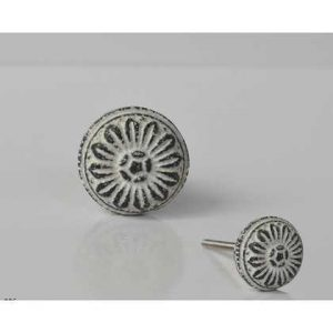 kh10-mh0-086 indian metal knob white two