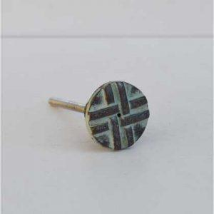 kh10-mh-1056 indian knob blue metal cross