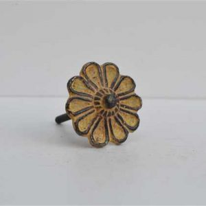 kh10-mh-579 indian knob yellow pattern flower