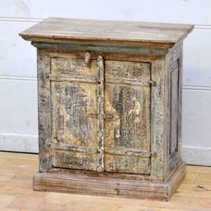 kh11-RS-02 indian furniture rustic cabinet distressed