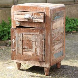 kh11-RS-04 indian furniture retro rustic bedside open angle