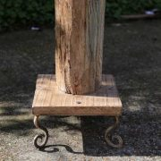 kh11-RS-11 indian furniture vintage wooden pillar bottom