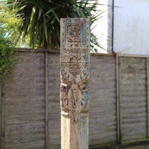 kh11-RS-11 indian furniture vintage wooden pillar top detail