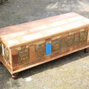 kh11-RS-147 indian furniture carved wood trunk top angle