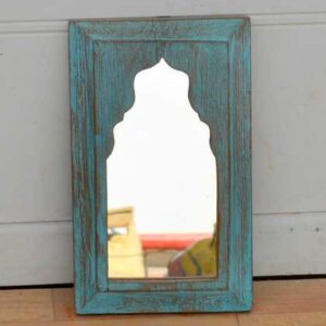 kh11-RS-23 indian mughal mirror blue