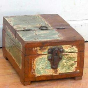 kh11-RS-27 indian small recycled wooden box