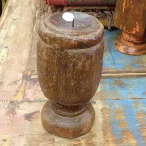 kh11-RS-35-b indian furniture bedpost candle stand wide