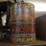 kh11-RS-57 indian furniture hand painted waste bin multi
