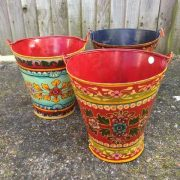 kh11-RS-88 indian furniture hand painted buckets 3