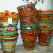 kh11-RS-88 indian furniture hand painted bucketsv