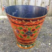 kh11-RS-88 indian furniture hand painted bucket blue