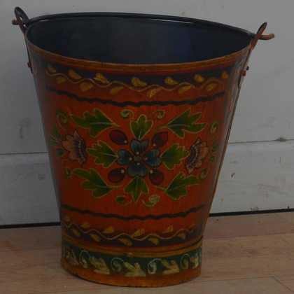 kh11-RS-88 indian furniture hand painted bucket dark