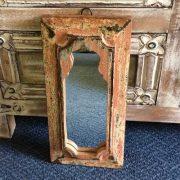 kh14-rs18-071 indian furniture mihrab mirror pink