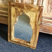 kh14-rs18-071 indian furniture mihrab mirror yellow side