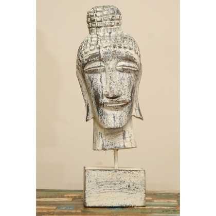 kh5-m1581 indian accessory gifts statue buddha white