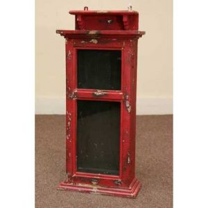 kh5-m2782 indian furniture wall cabinet red