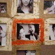 kh5-m2794-2 indian accessory gifts photo frame multi orange closeup