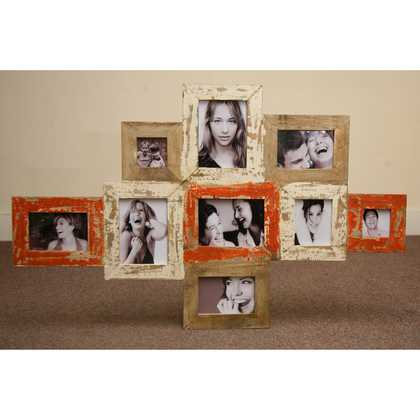 kh5-m2794 indian accessory gifts photo frame multi orange