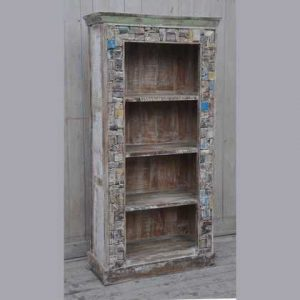 kh7-kr-22 indian furniture bookcase reclaimed unusual block