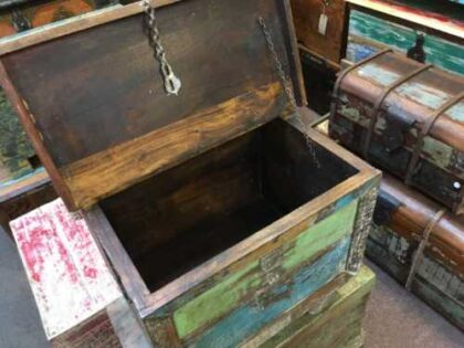 kh7 kr 47 indian furniture storage trunk reclaimed open