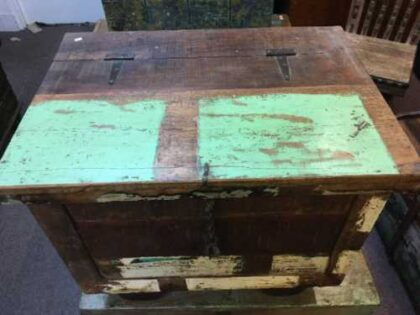 kh7 kr 47 indian furniture storage trunk reclaimed top