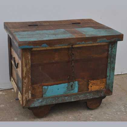 kh7-kr-47 indian furniture storage trunk reclaimed