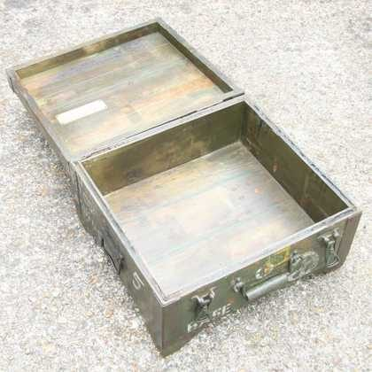 kh7-kr-70a indian furniture box storage military original fully open