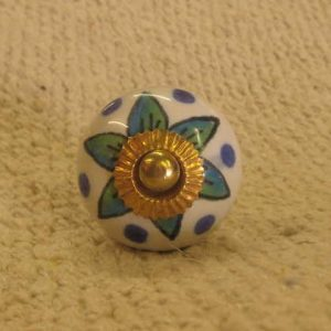 n0249b indian accessory knob unusual floral leaves