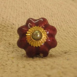 n0249d indian accessory knob unusual ruby