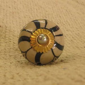n0249e indian accessory knob unusual pattern