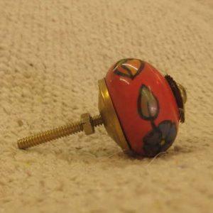 n0249k indian accessory knob unusual red