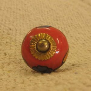n0249k indian accessory knob unusual red front