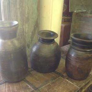 Wooden Indian Pots