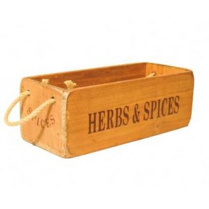 vintage box small herbs spices