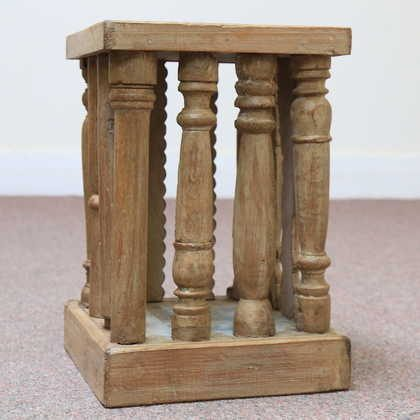 kh11-RS-39-c indian furniture wood stool side table fourth side