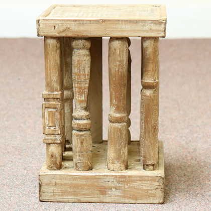 kh11-RS-39-c indian furniture wood stool side table another side