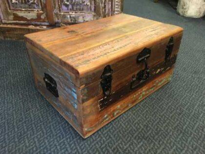 kh8 M 4441 indian furniture trunk storage medium left
