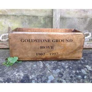 VBS-GG wooden box crate vintage Goldstone Ground Hove Seagulls