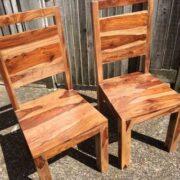indian furniture chair dining sheesham rosewood pair