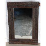 k61 80274 indian furniture mirror rustic frame