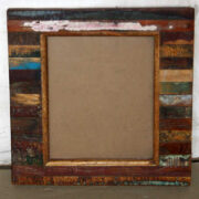 k61-80457 indian furniture mirror wood block chunky