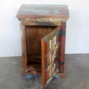 k61-j57-3007 indian furniture bedside rustic open door